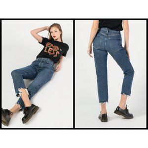💕AGOLDE Riley High Rise Straight Crop Jeans Veto